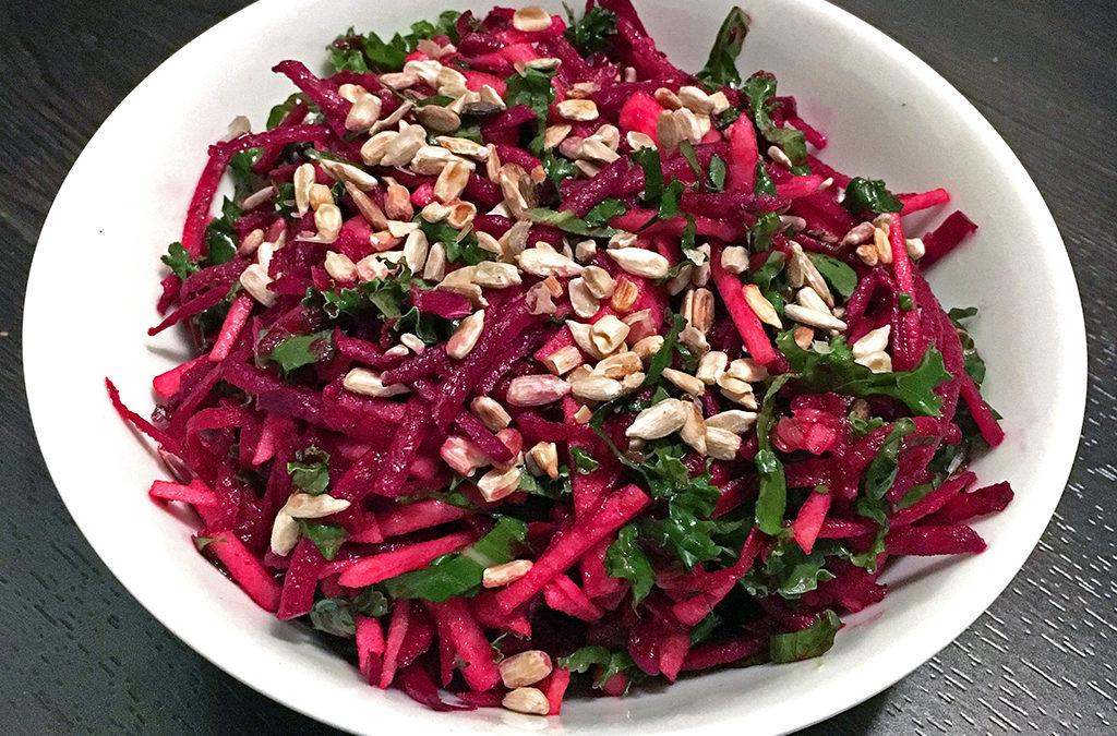 Beet-apple-kale salad