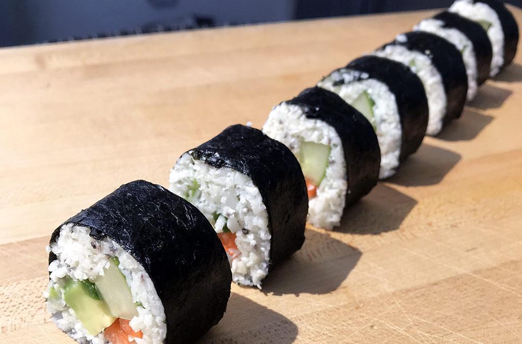 Cauliflower rice sushi (grain free)