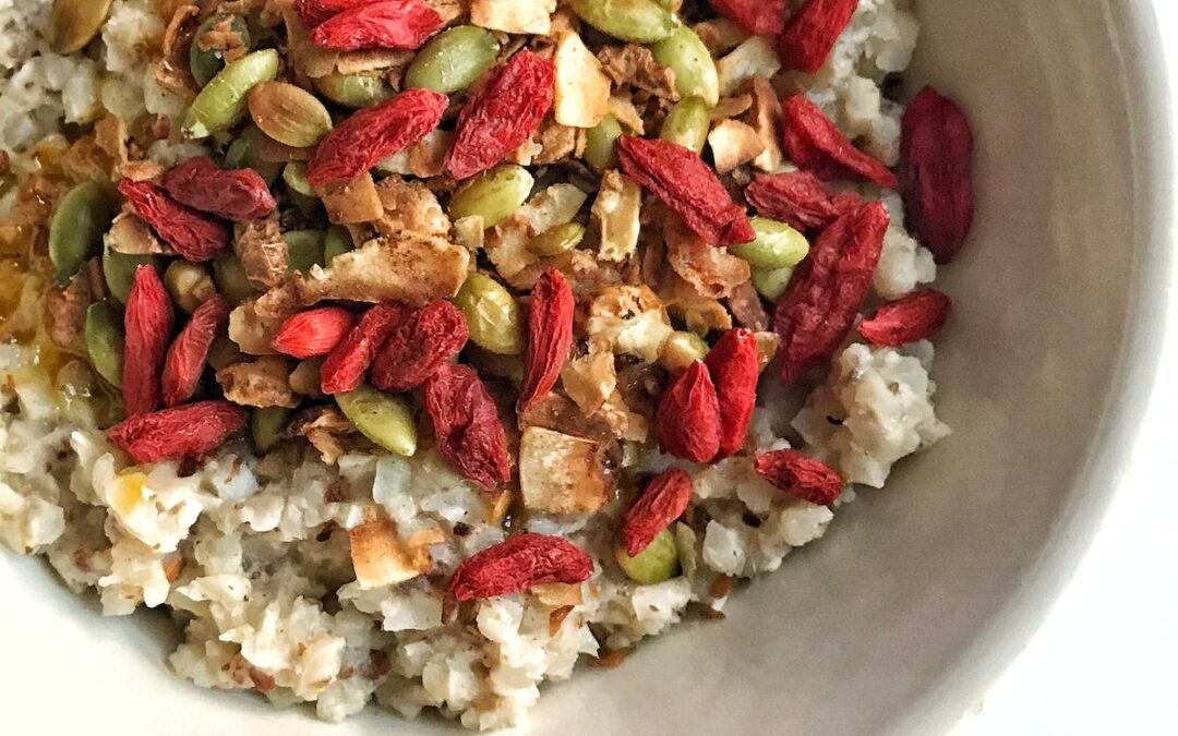 Protein cauliflower oatmeal